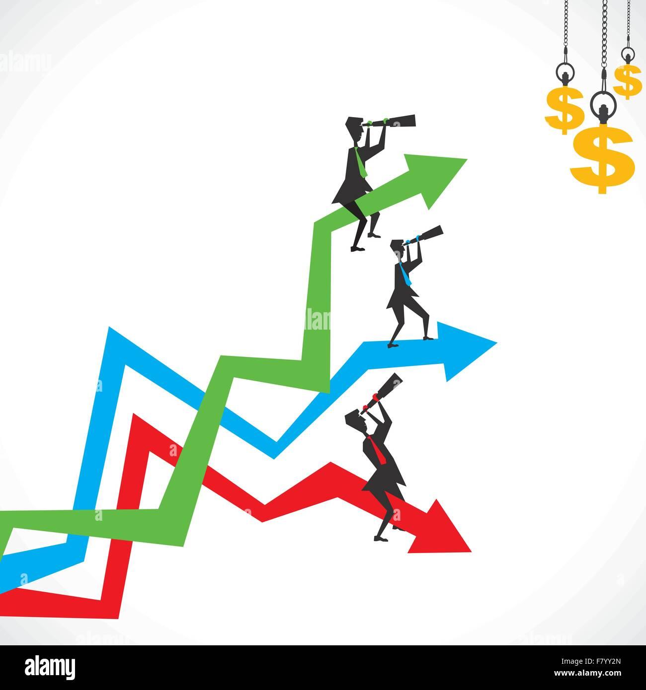 Ricerca di concetto di denaro Immagini Stock