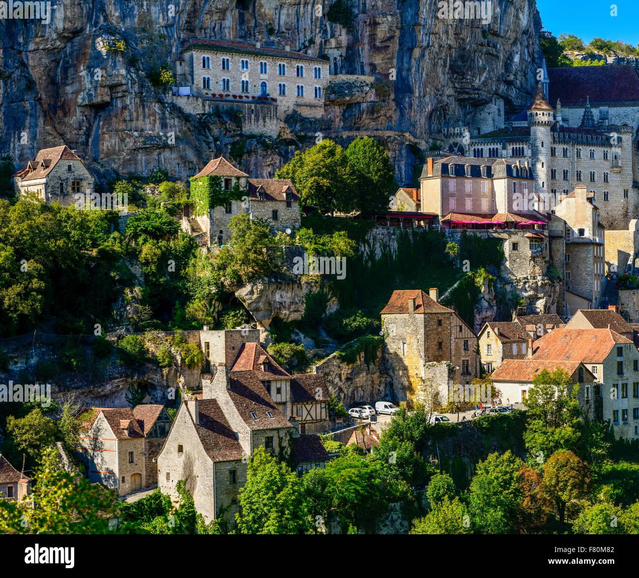 Rocamadour, Lot, Midi-Pirenei, Francia Immagini Stock