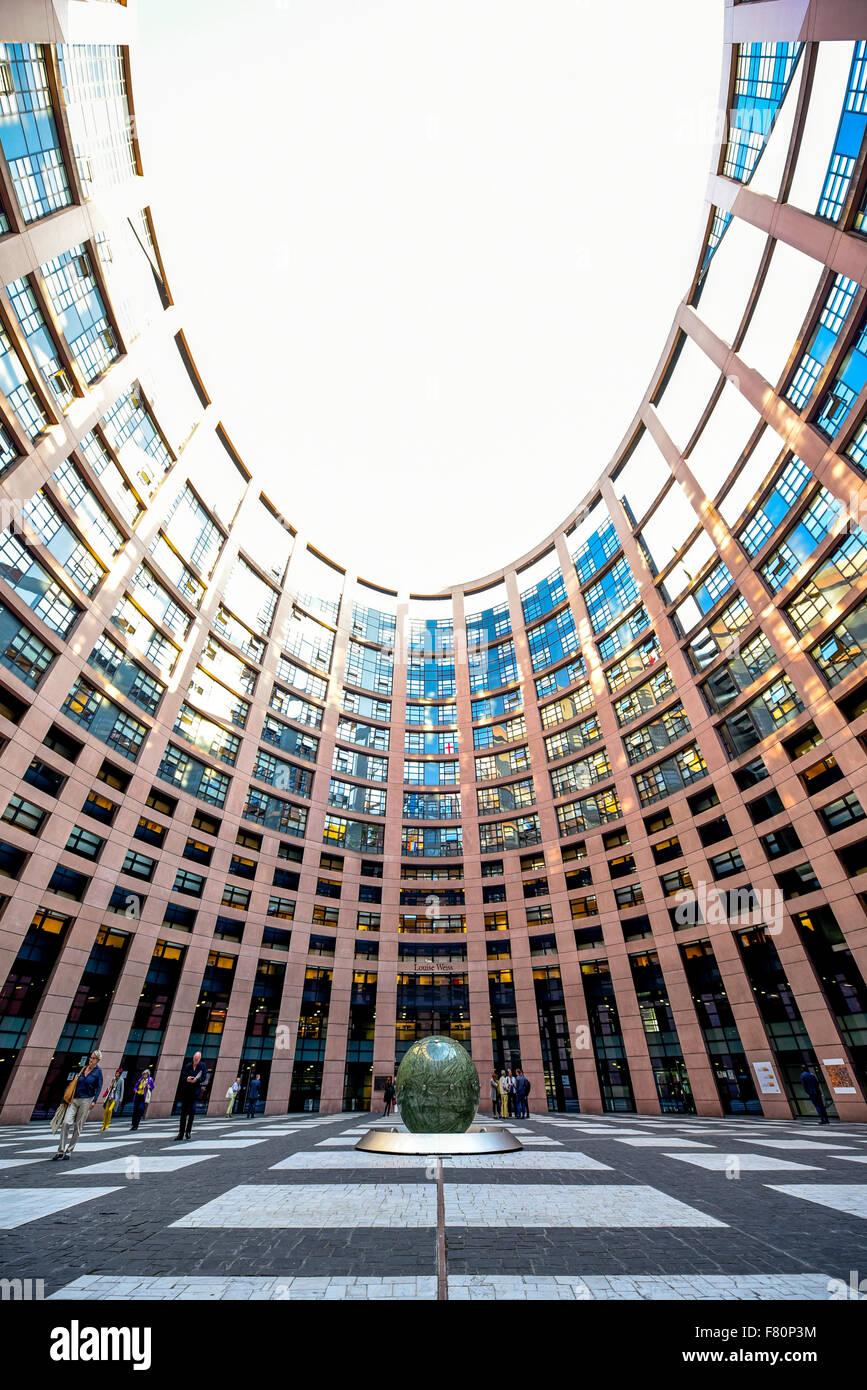 Il Parlamento europeo, Strasburgo, Alsazia, Francia Immagini Stock