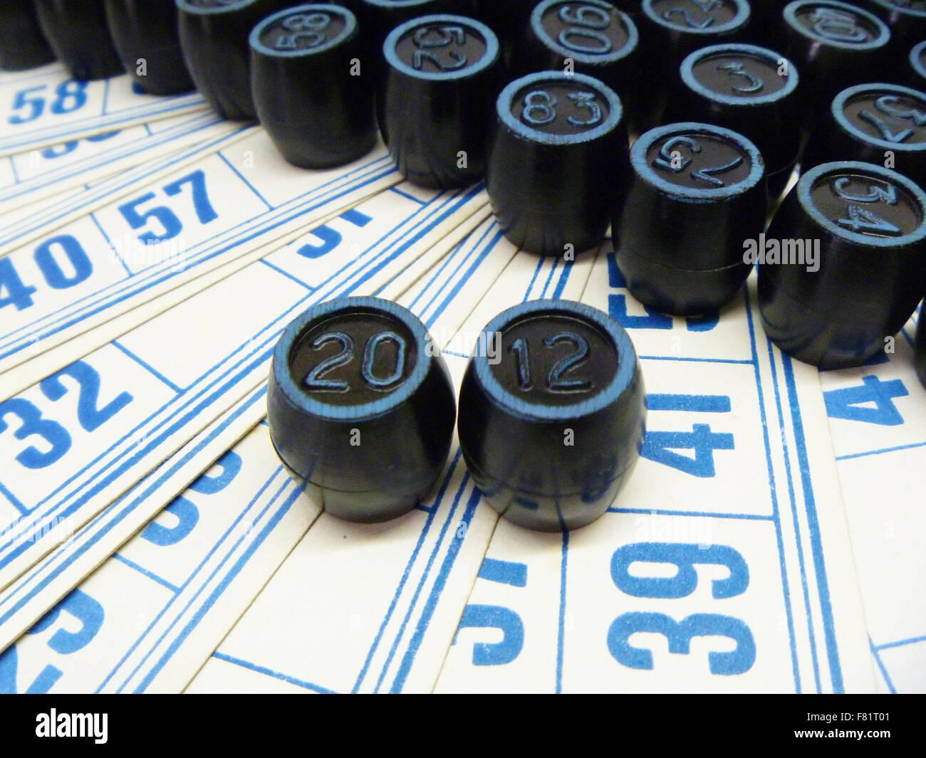 Schede per la scrivania gioco del lotto Immagini Stock