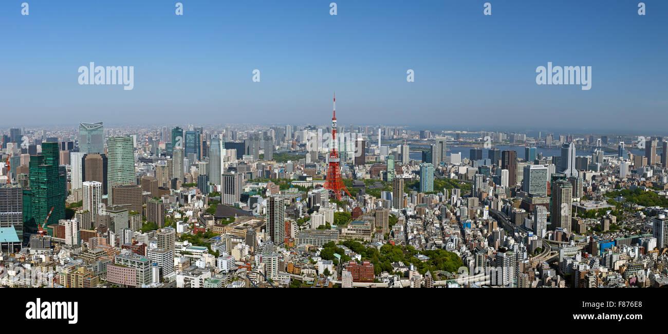 Lo skyline di Tokyo Cityscape Immagini Stock