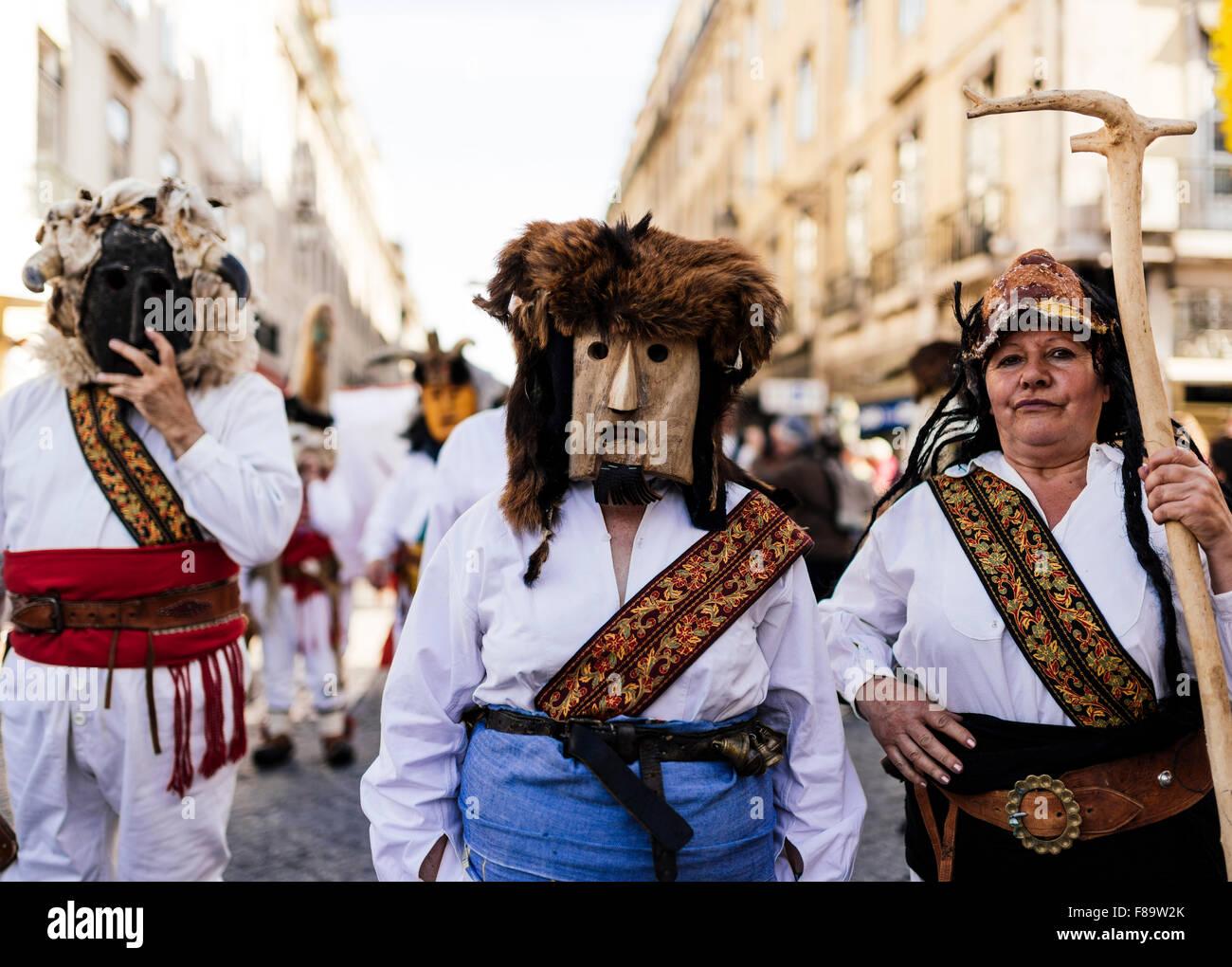 Festival internazionale maschera iberica, Lisbona, Portogallo Immagini Stock