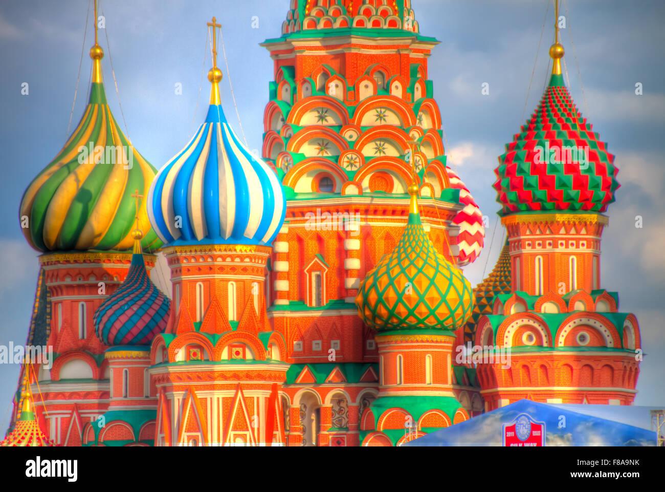 Cattedrale di San Basilio. Mosca, Federazione Russia, Piazza Rossa, costruito 1554-61 Immagini Stock