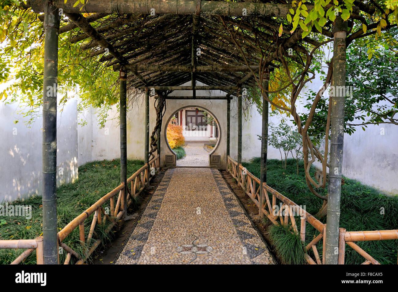 Giardino dell'umile amministratore , Suzhou, Cina. Questo è un sito Patrimonio Mondiale dell'UNESCO Immagini Stock