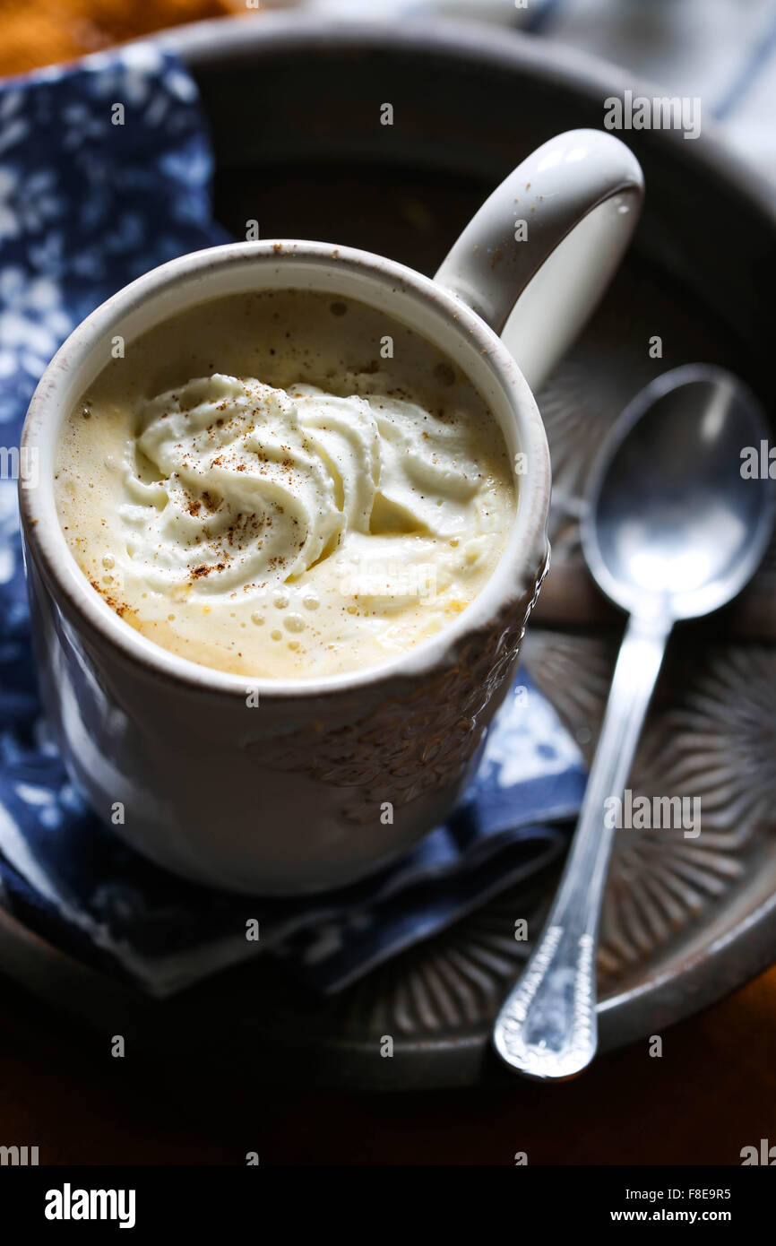 Hot pumpkin spice latte Immagini Stock