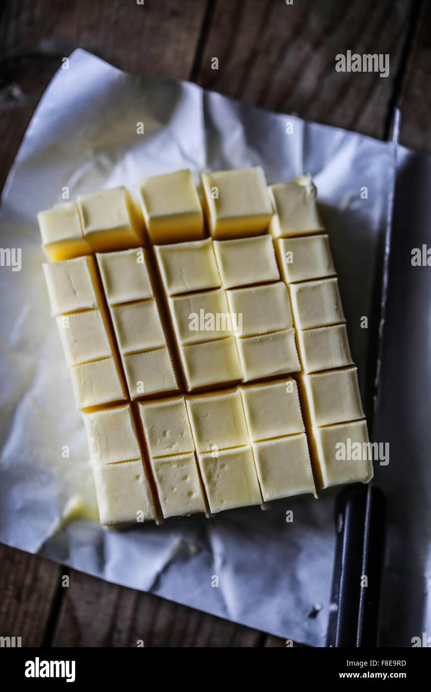 Bastone di burro Immagini Stock