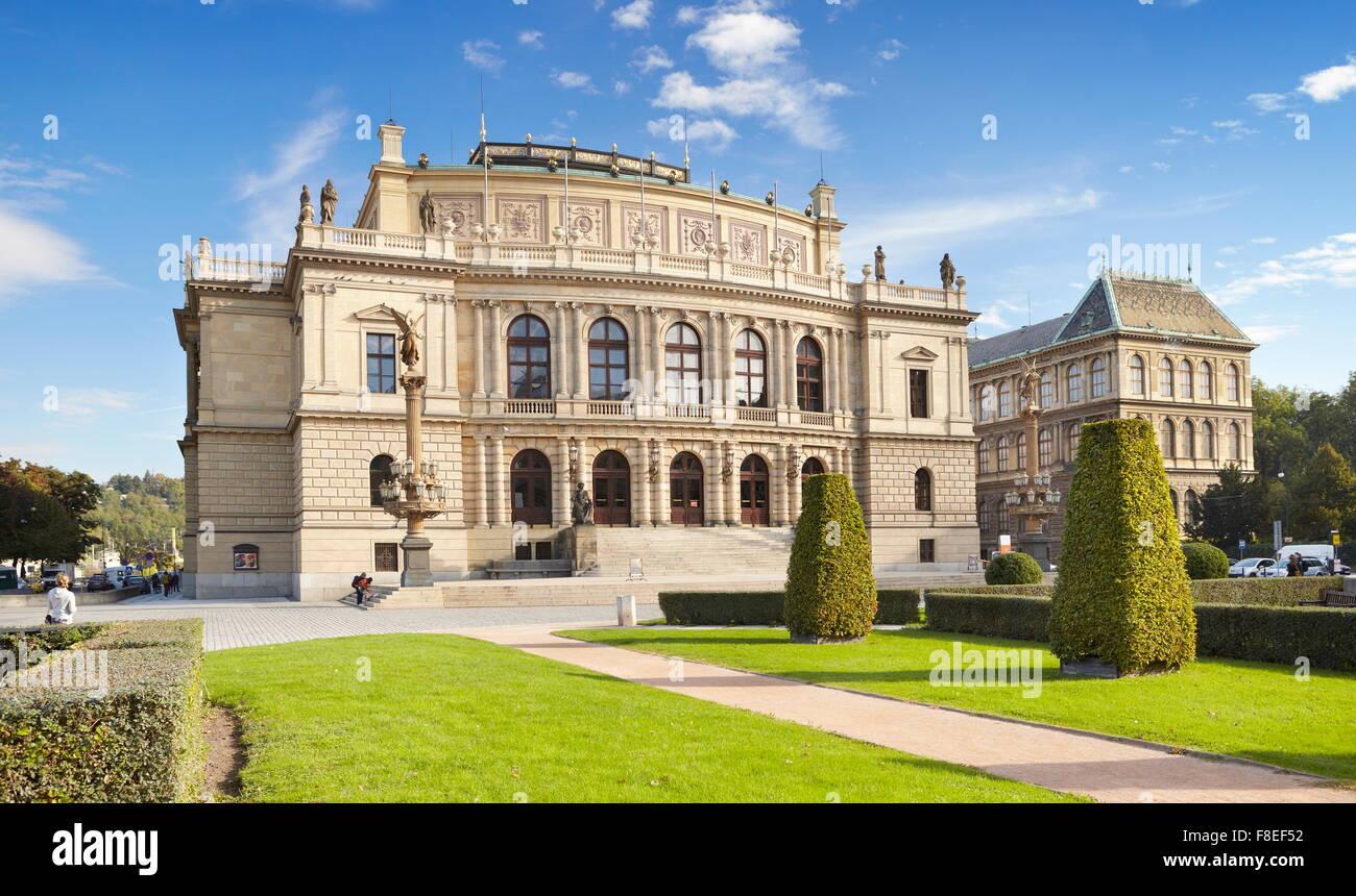 La sala concerti Rudolfinum, Praga, Repubblica Ceca Immagini Stock