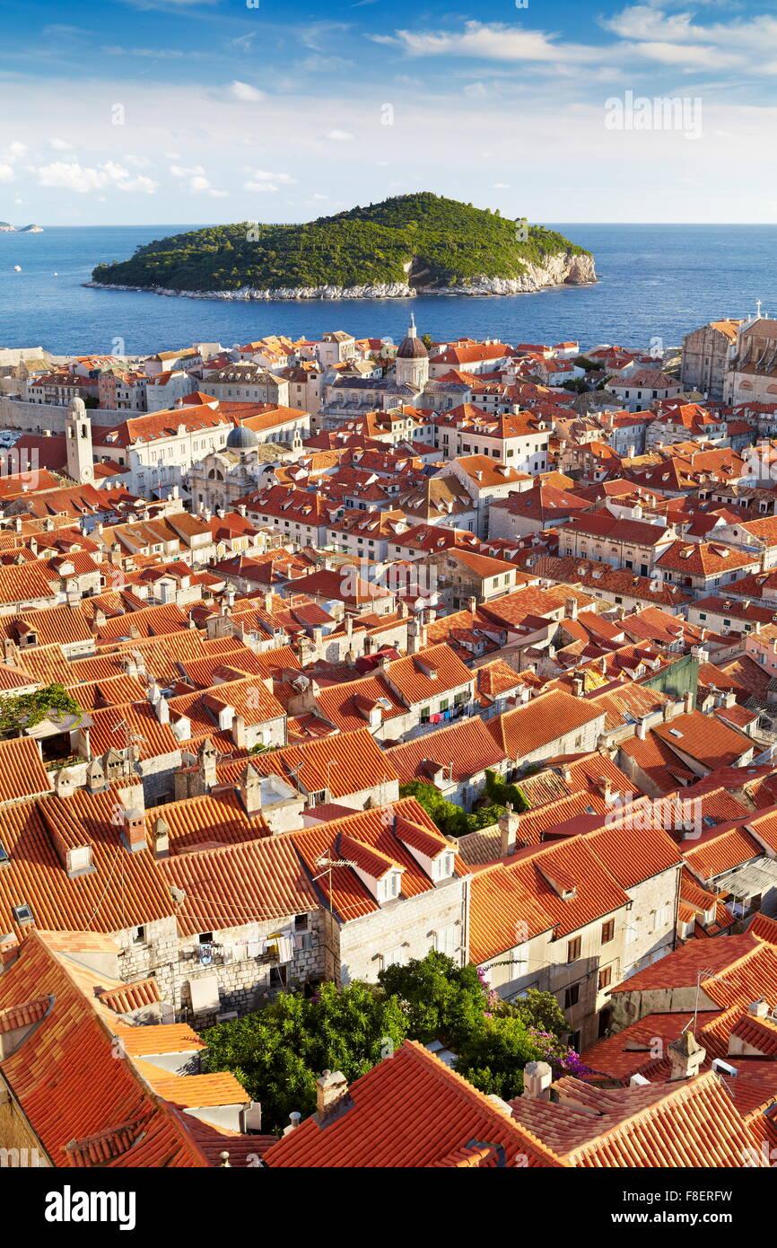 Paese vecchio di Dubrovnik, Croazia Immagini Stock