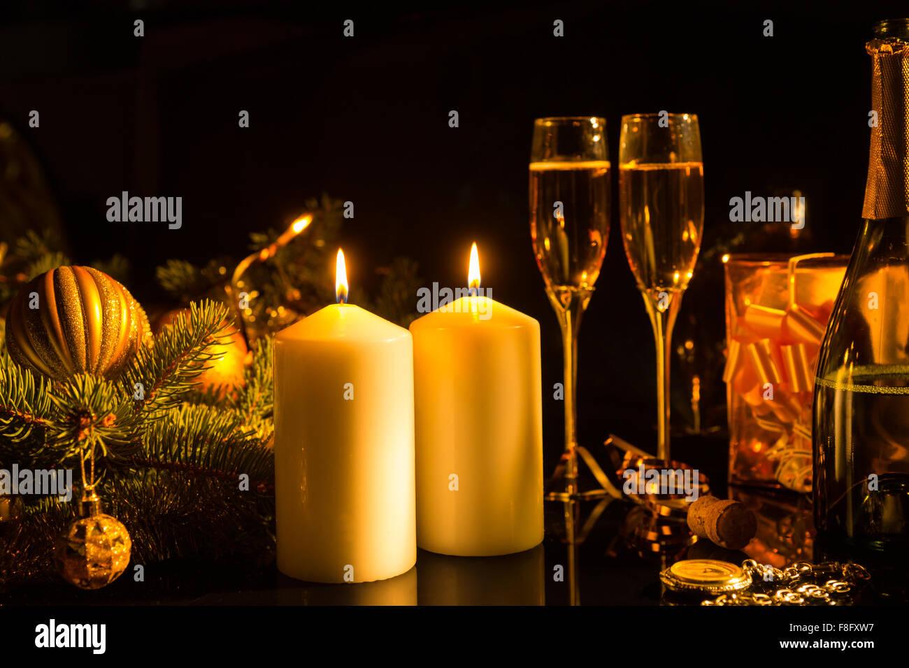 Regali Di Natale Romantici.Romantico Ancora In Vita Di Acceso Candele Che Illuminano I