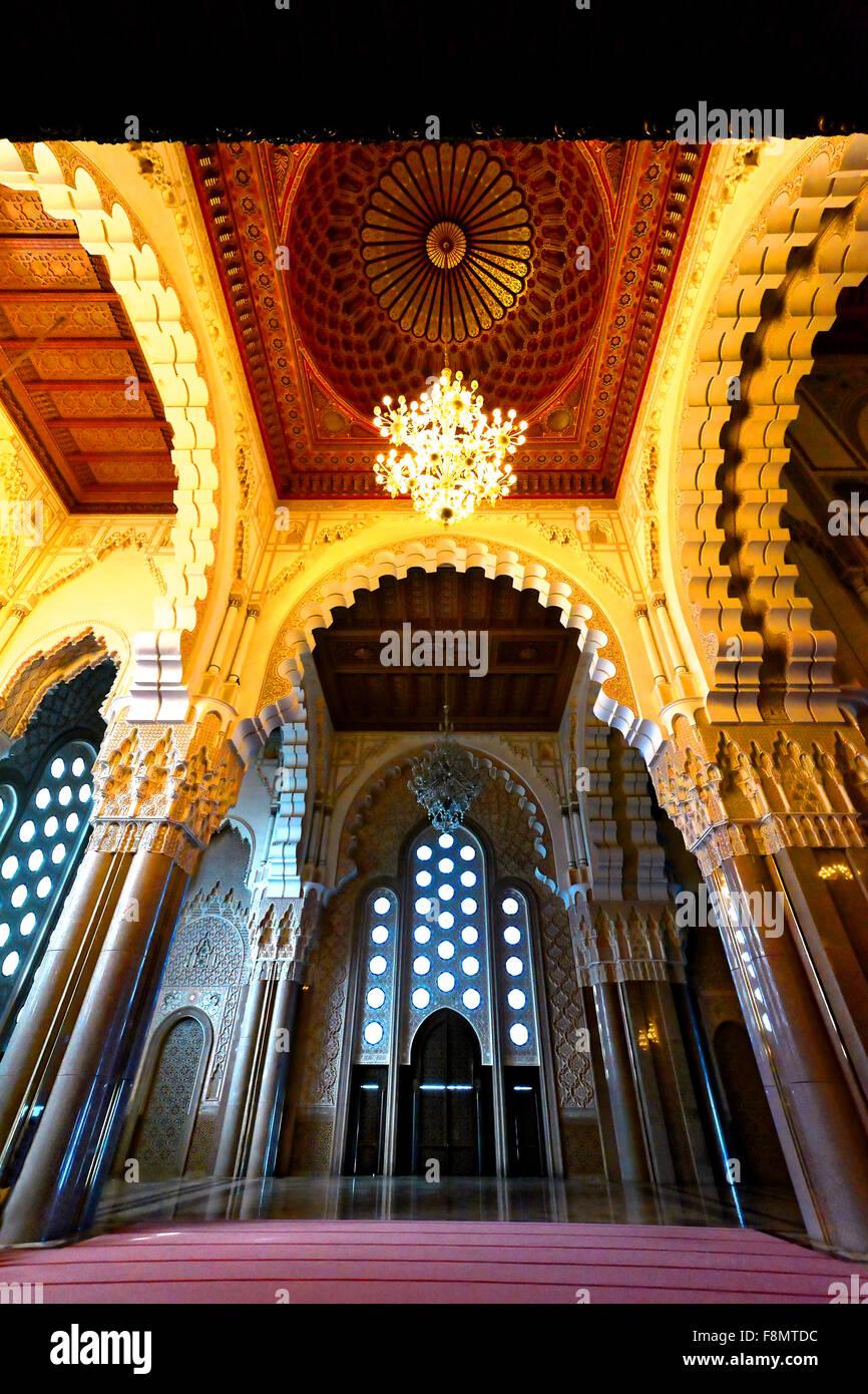 Casablanca Marocco Moschea Hassan II dettaglio Immagini Stock