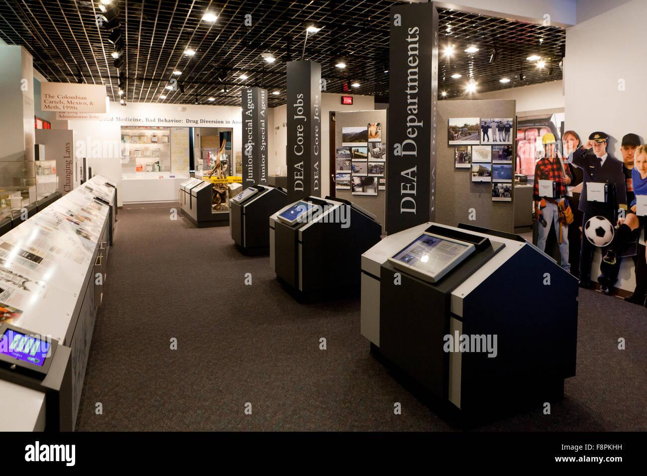 La DEA (Drug Enforcement Agency) Museo e Centro Visitatori - Arlington, Virginia, Stati Uniti d'America Immagini Stock