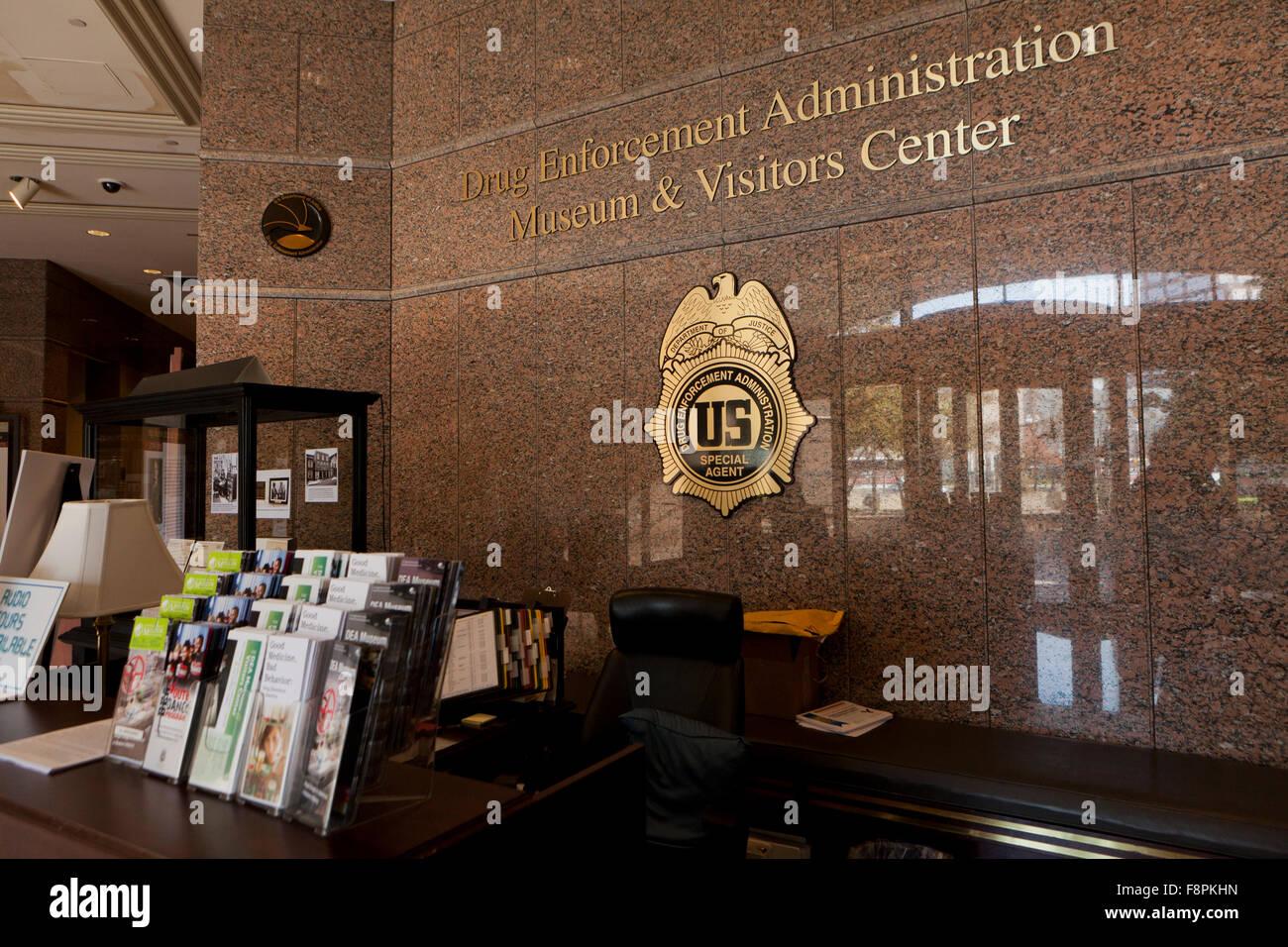 La Drug Enforcement Administration (DEA) Sede del centro visitatori - Arlington, Virginia, Stati Uniti d'America Immagini Stock