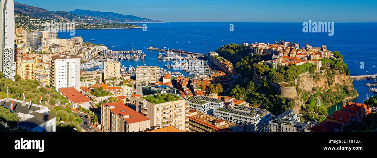 Il Principato di Monaco, con vista del palazzo reale Immagini Stock
