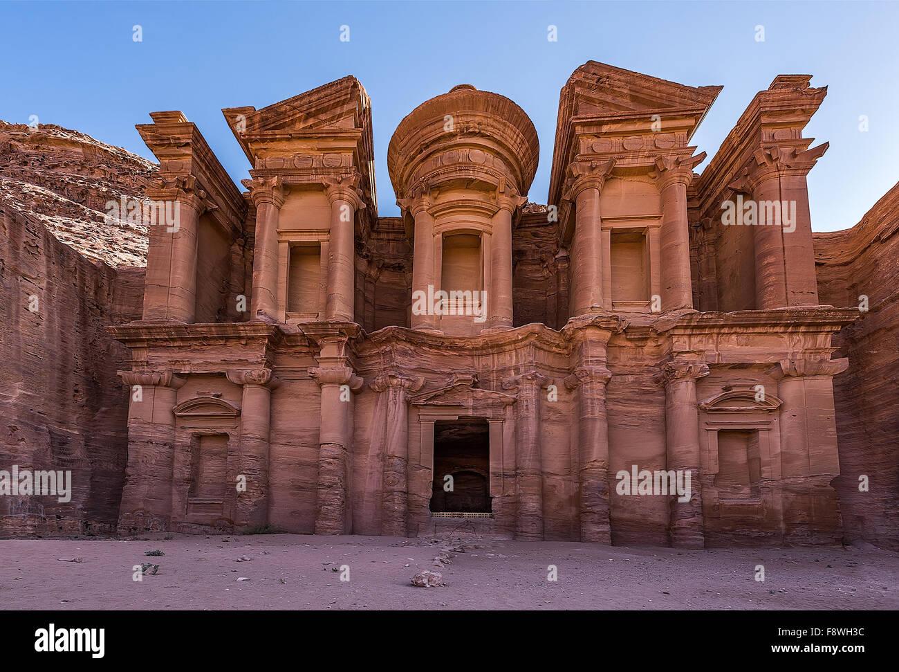 Il monastero in Giordania Immagini Stock