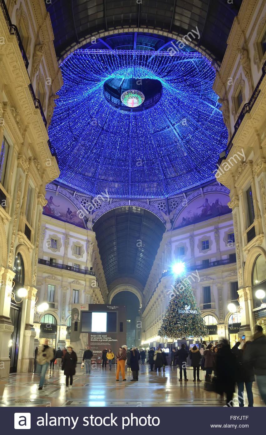 Milano Decorazioni Natalizie.Decorazione Di Natale Della Galleria Vittorio Emanuele
