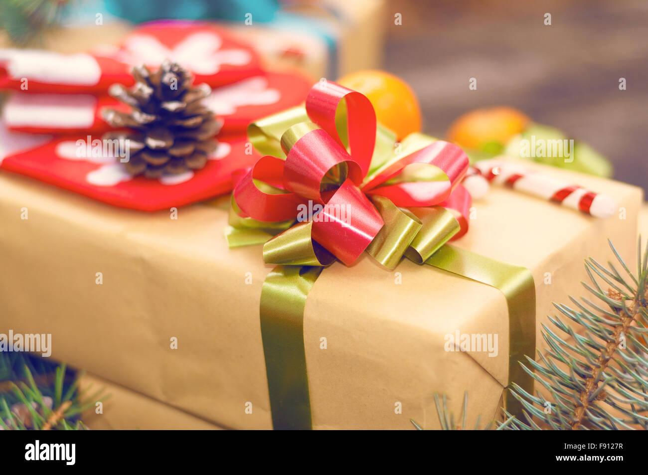 Natale sfondi vintage Immagini Stock