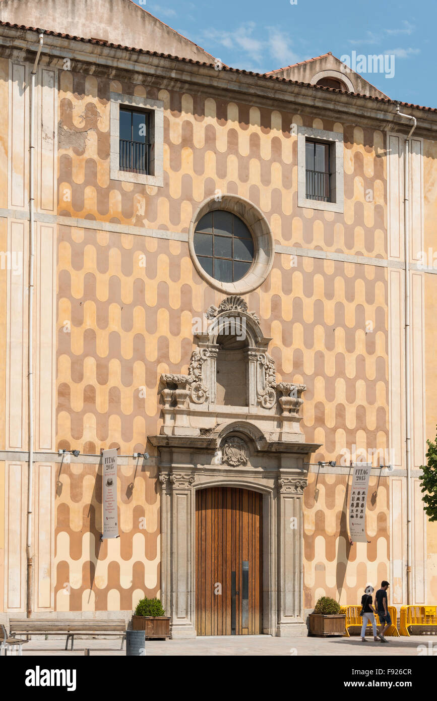 Teatre la Casa de Cultura, Plaça Ospedale, Girona (Gerona), provincia di Girona, in Catalogna, Spagna Immagini Stock