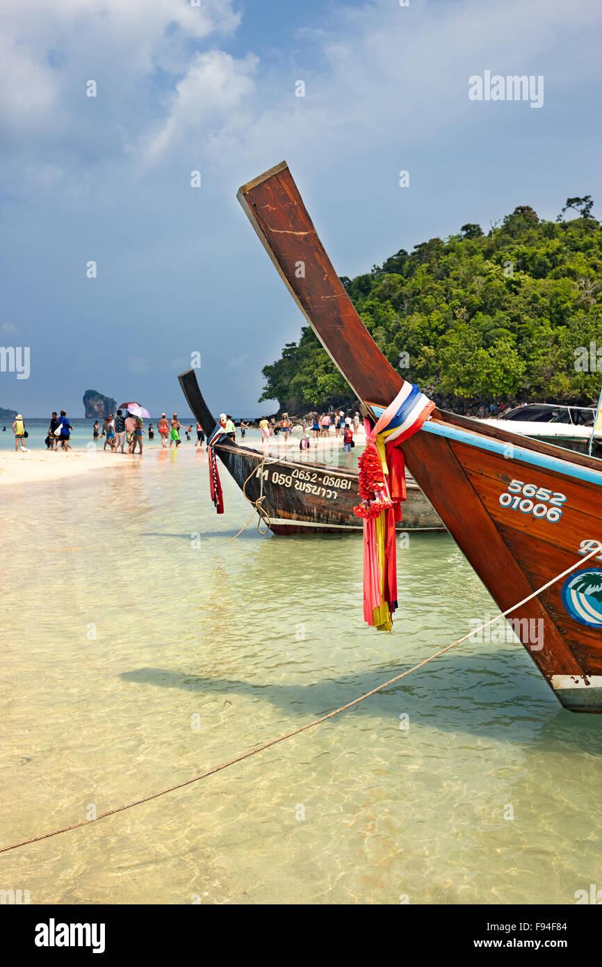 Spiaggia del Tup Island (noto anche come Isola di vasca, Koh tocca o Koh Thap). Provincia di Krabi, Thailandia. Immagini Stock