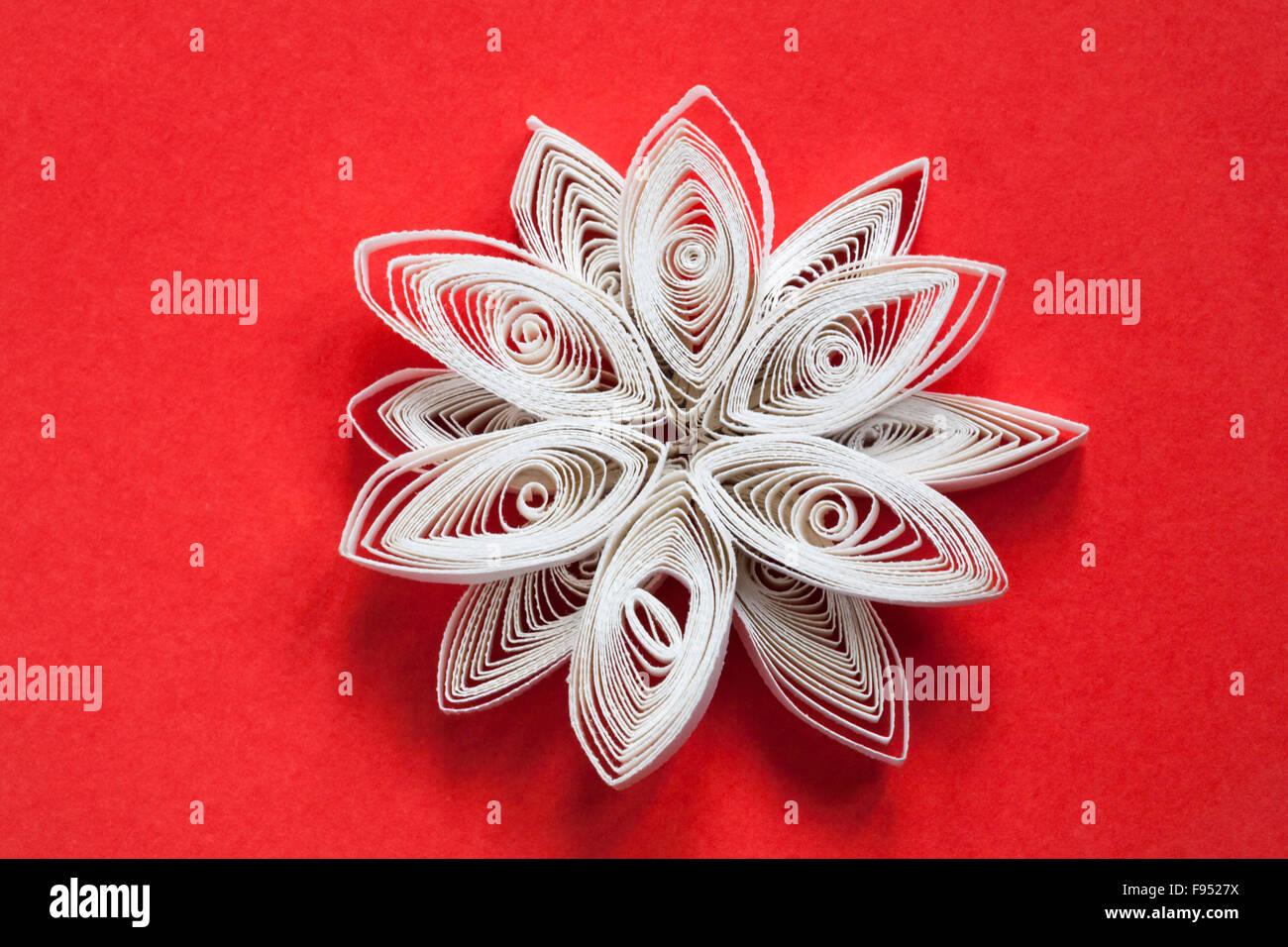 Decorazioni Natalizie Quilling.Carta Quilling Dettaglio Del Fiocco Di Neve Di Natale Decorazioni