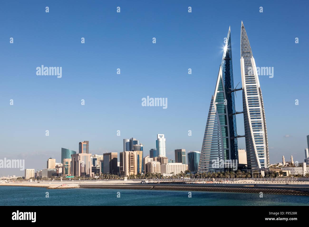 Il Bahrain World Trade Center Immagini Stock