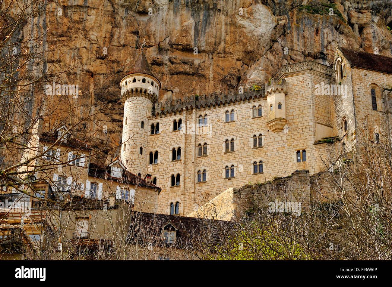 Città vecchia di Rocamadour, lotto Reparto, Aquitaine, Francia Immagini Stock