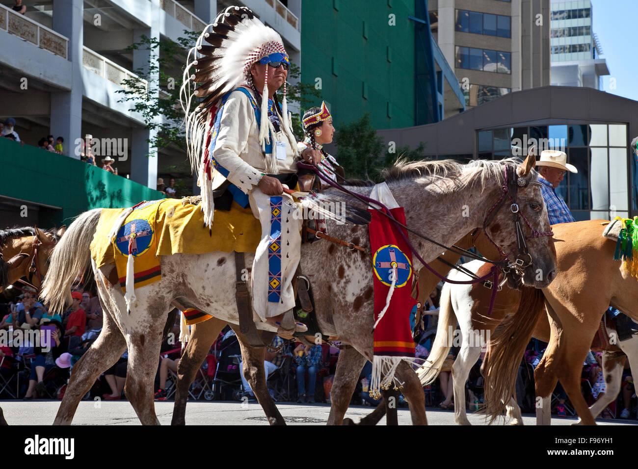 2015 Calgary Stampede Parade, Calgary, Alberta, Canada. Immagini Stock