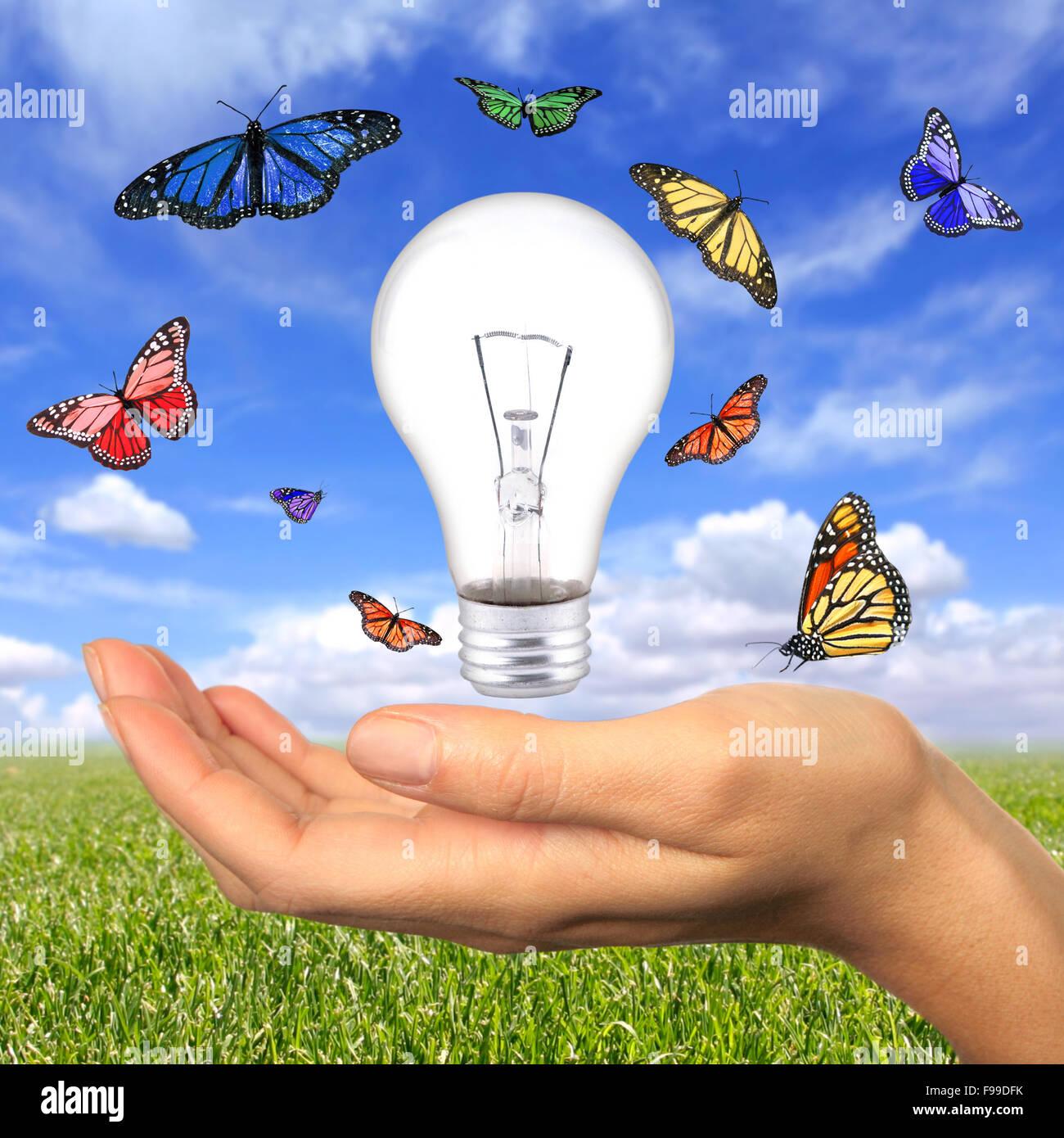 Fonti di energia rinnovabili è alla nostra portata Immagini Stock