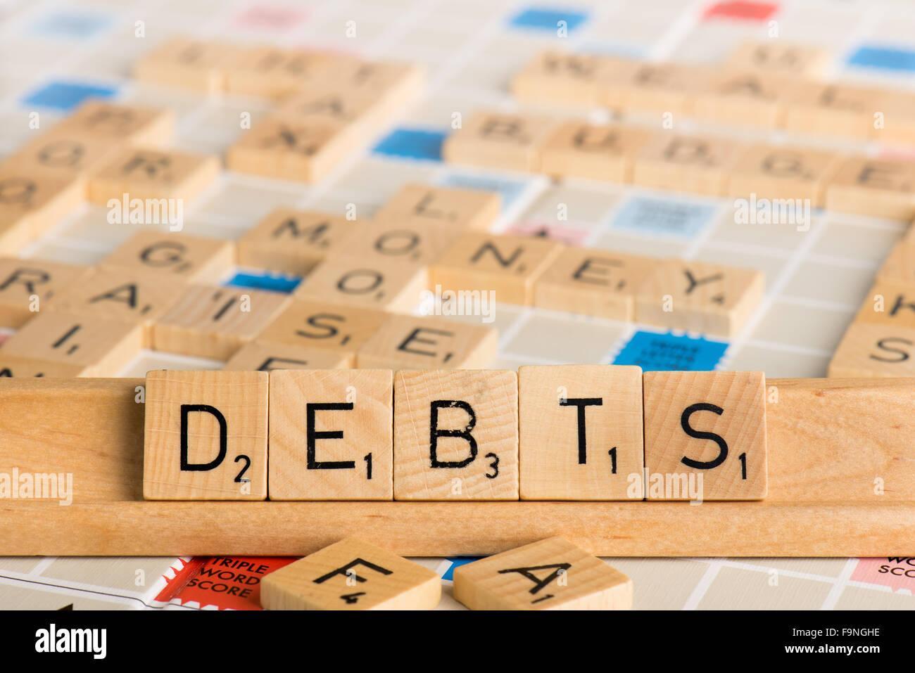 Scrabble - CREDITI Immagini Stock