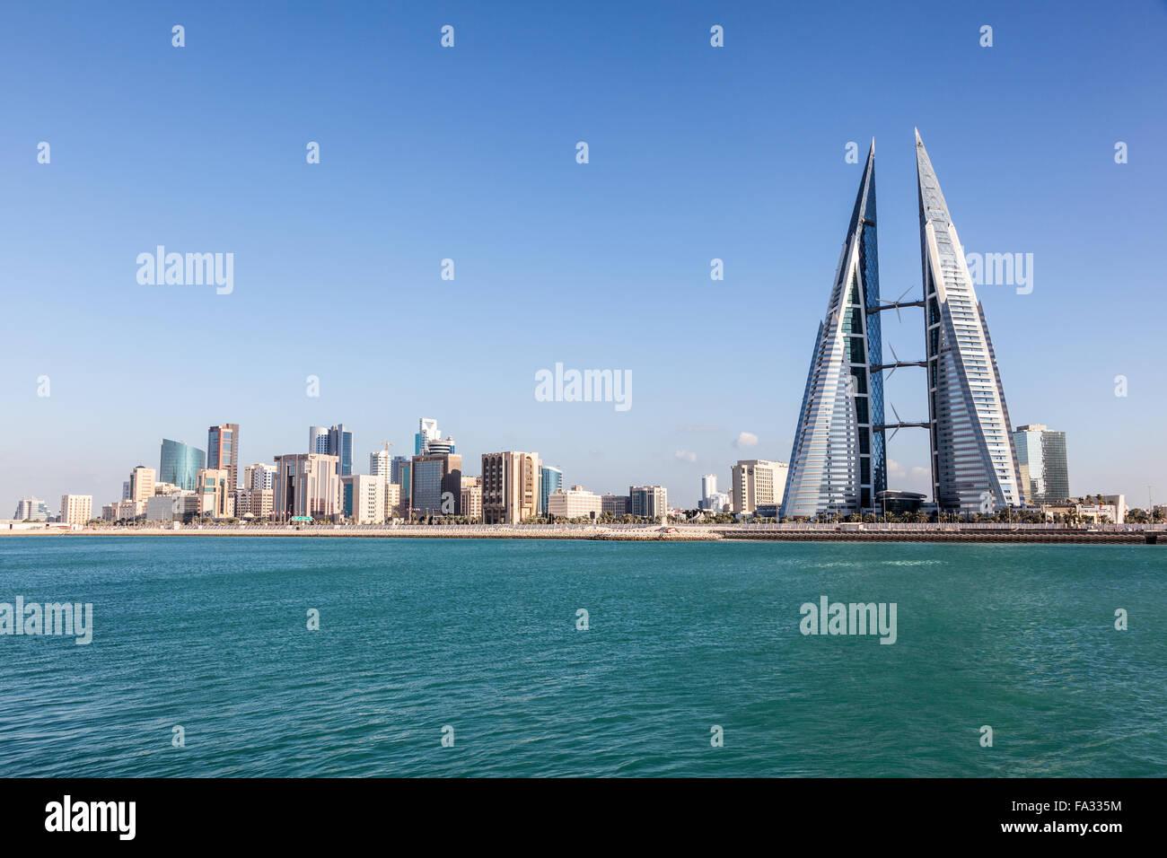 Manama skyline, Regno del Bahrein Immagini Stock