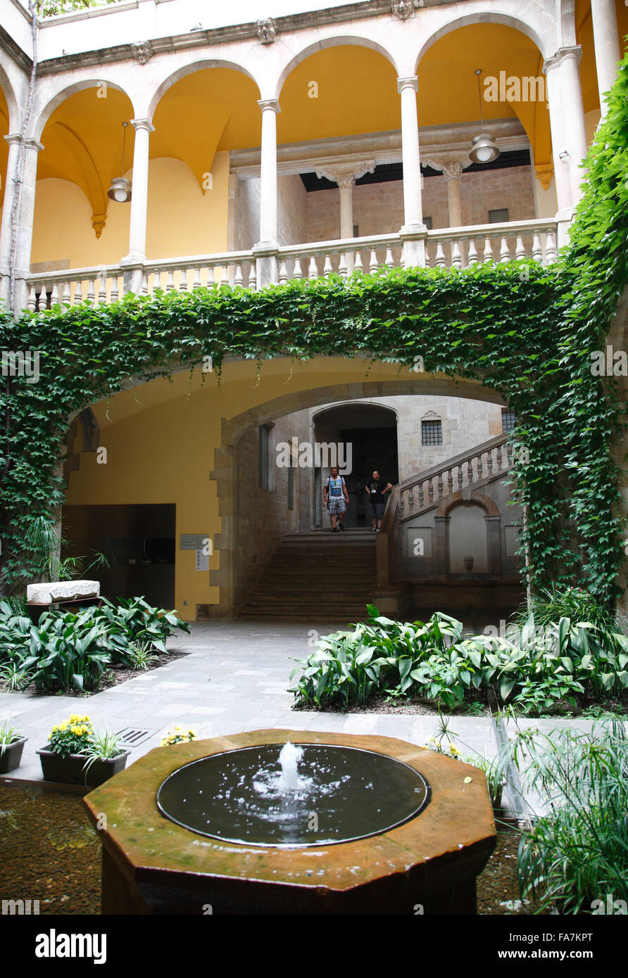 Barri Gotic, Archivo de la Corona de Aragon, Barcellona, Spagna, Europa Immagini Stock