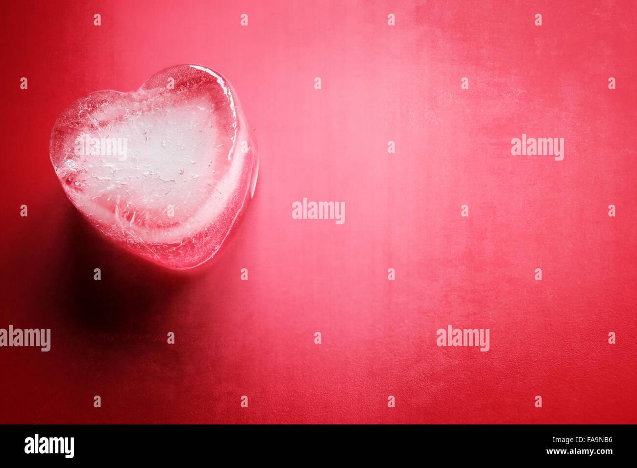 Cuore congelato lo sfondo Immagini Stock