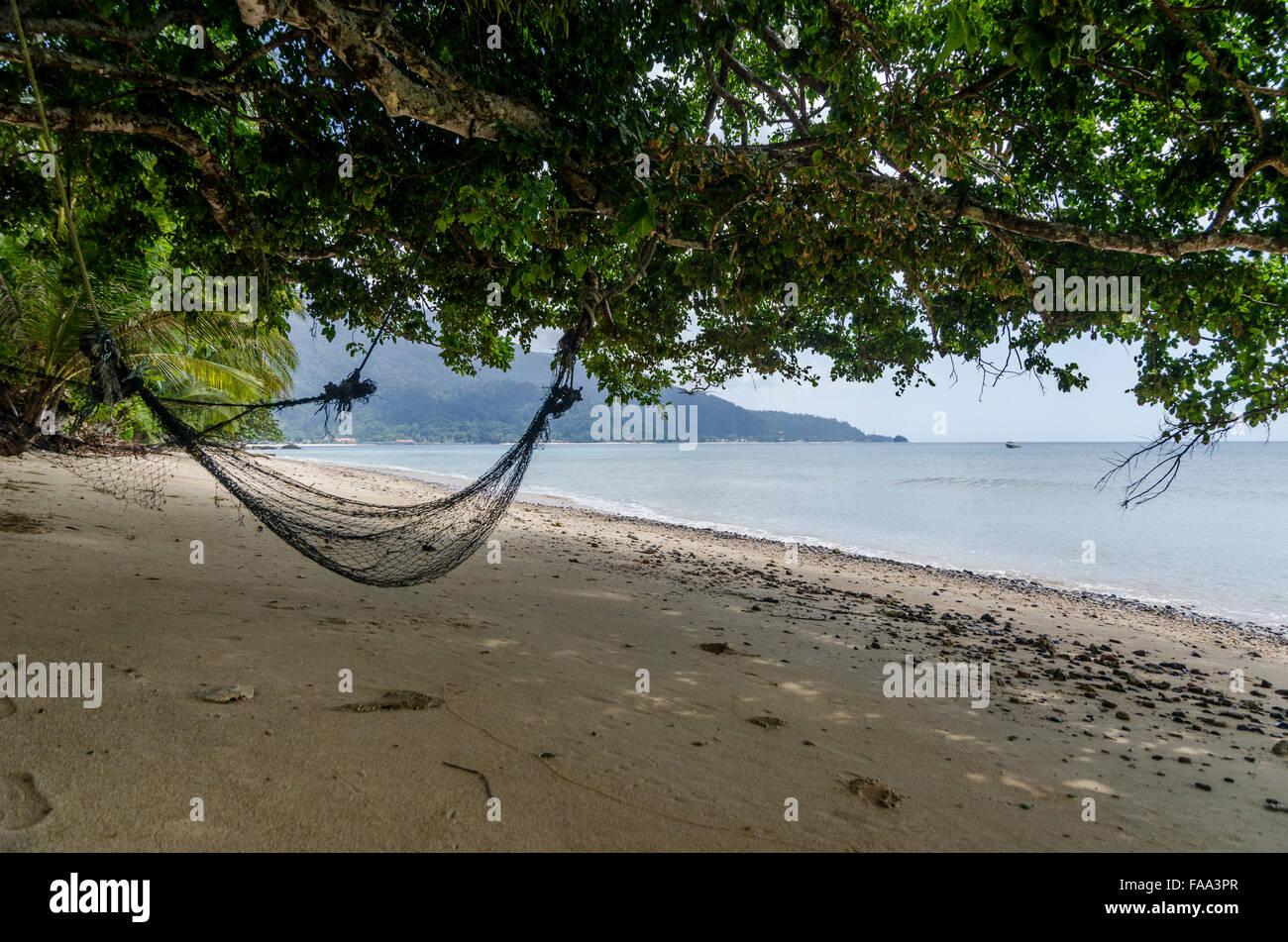 Spiaggia di Isola di Tioman in Malesia Immagini Stock