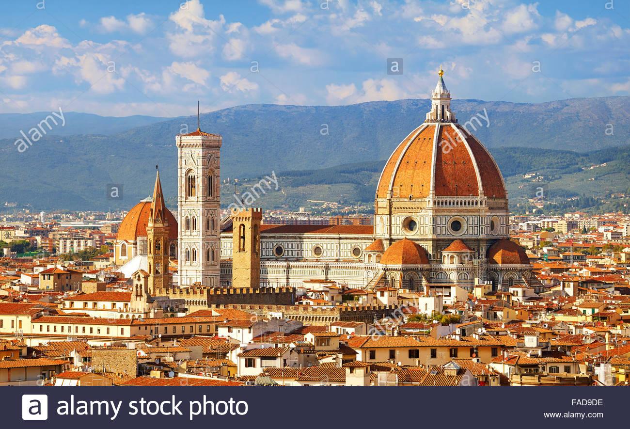 Basilica de Santa Maria del Fiore, Firenze, Toscana, Italia Immagini Stock
