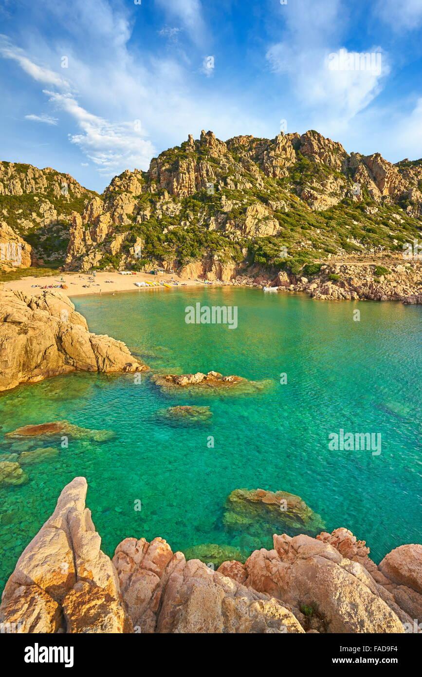 Costa Paradiso Beach, l'isola di Sardegna, Italia Immagini Stock