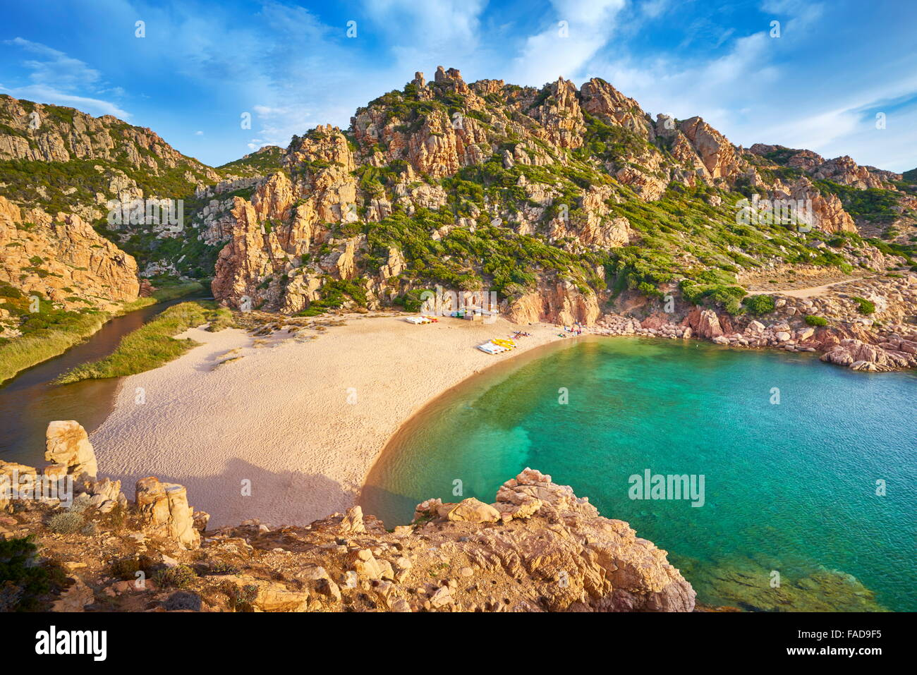 Sardegna - Costa Paradiso Beach, Italia Immagini Stock