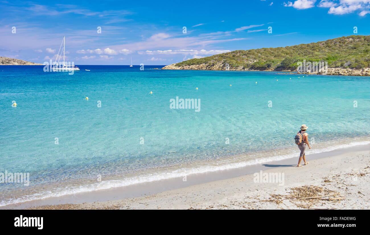 Cala Portese Beach, sull'Isola di Caprera, La Maddalena, in Sardegna, Italia Foto Stock