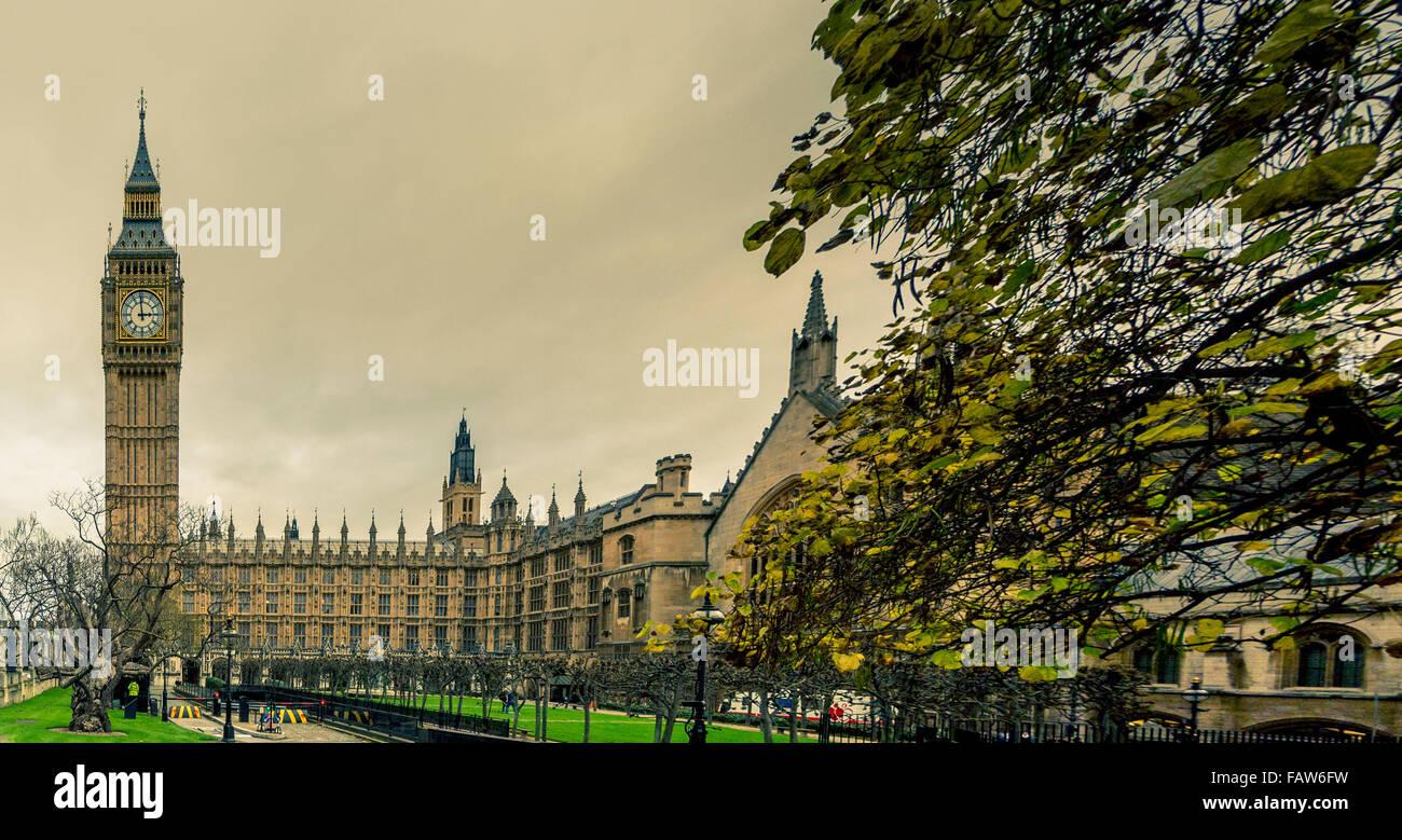 Il Big Ben e il Parlamento di Londra, Regno Unito. Immagini Stock