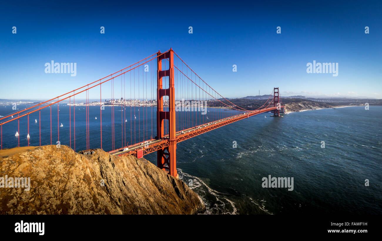 La baia di San Francisco Immagini Stock