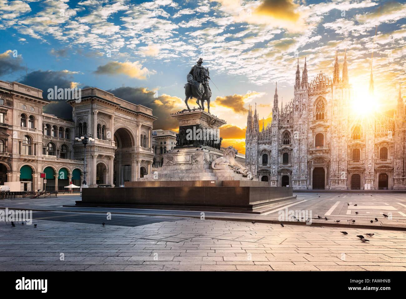 Duomo di Alba, Milano, Italia Europa. Immagini Stock