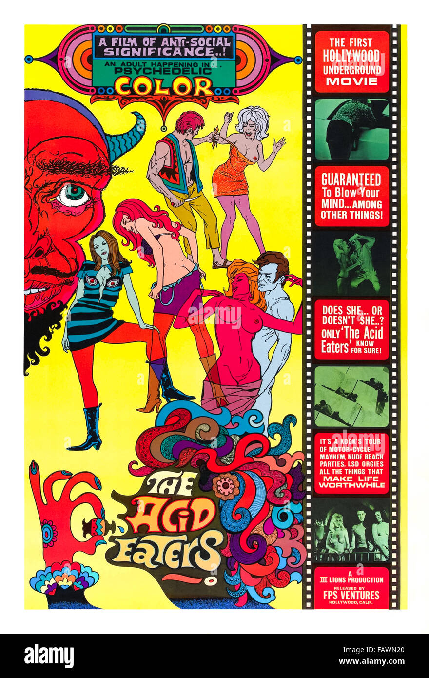 I mangiatori di acido Poster Immagini Stock