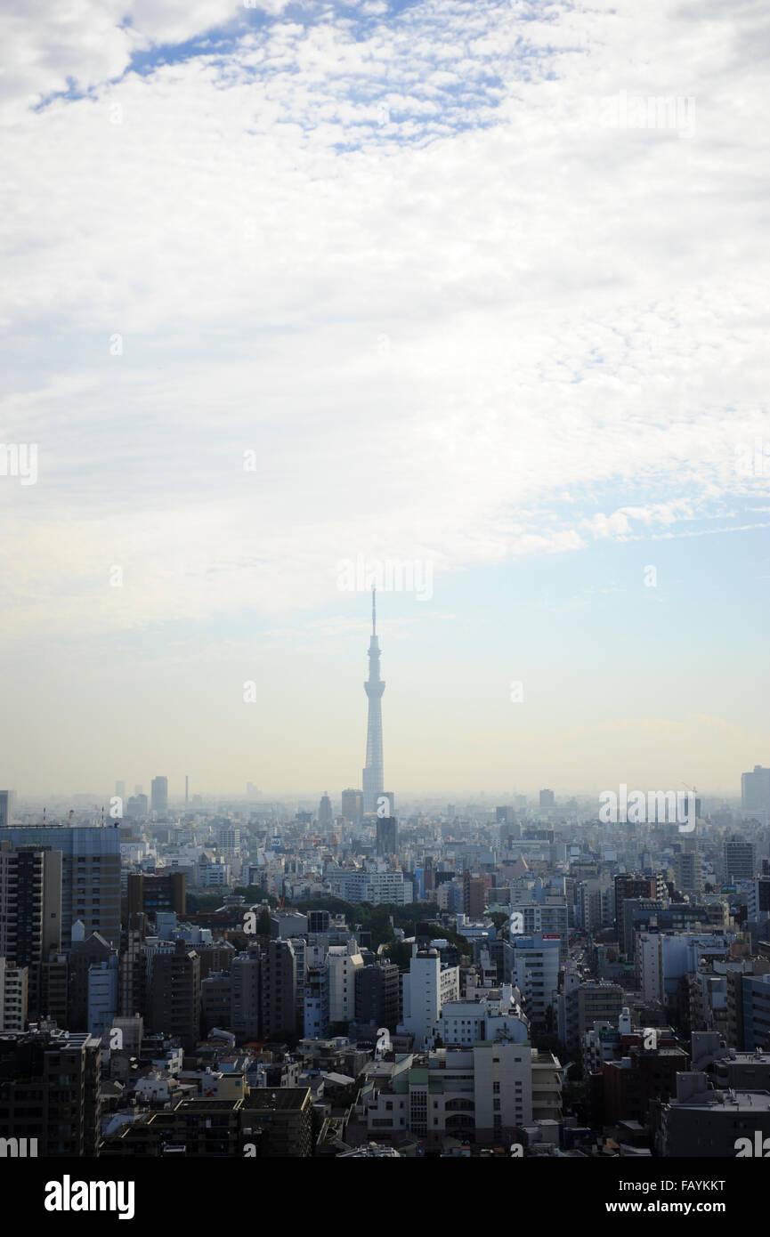 Skyline di Tokyo Immagini Stock