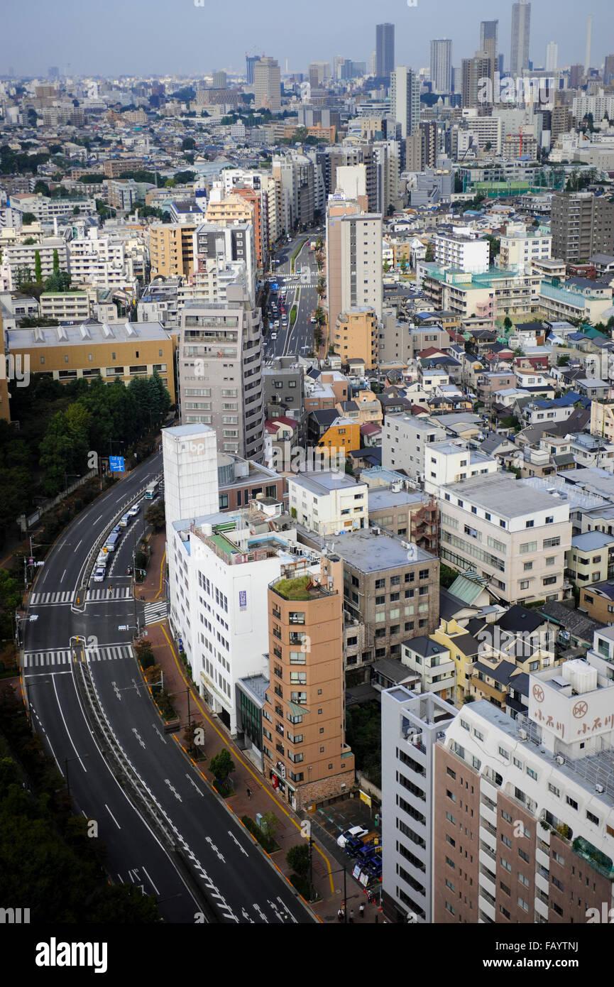 Lo skyline di Tokyo, Giappone Immagini Stock