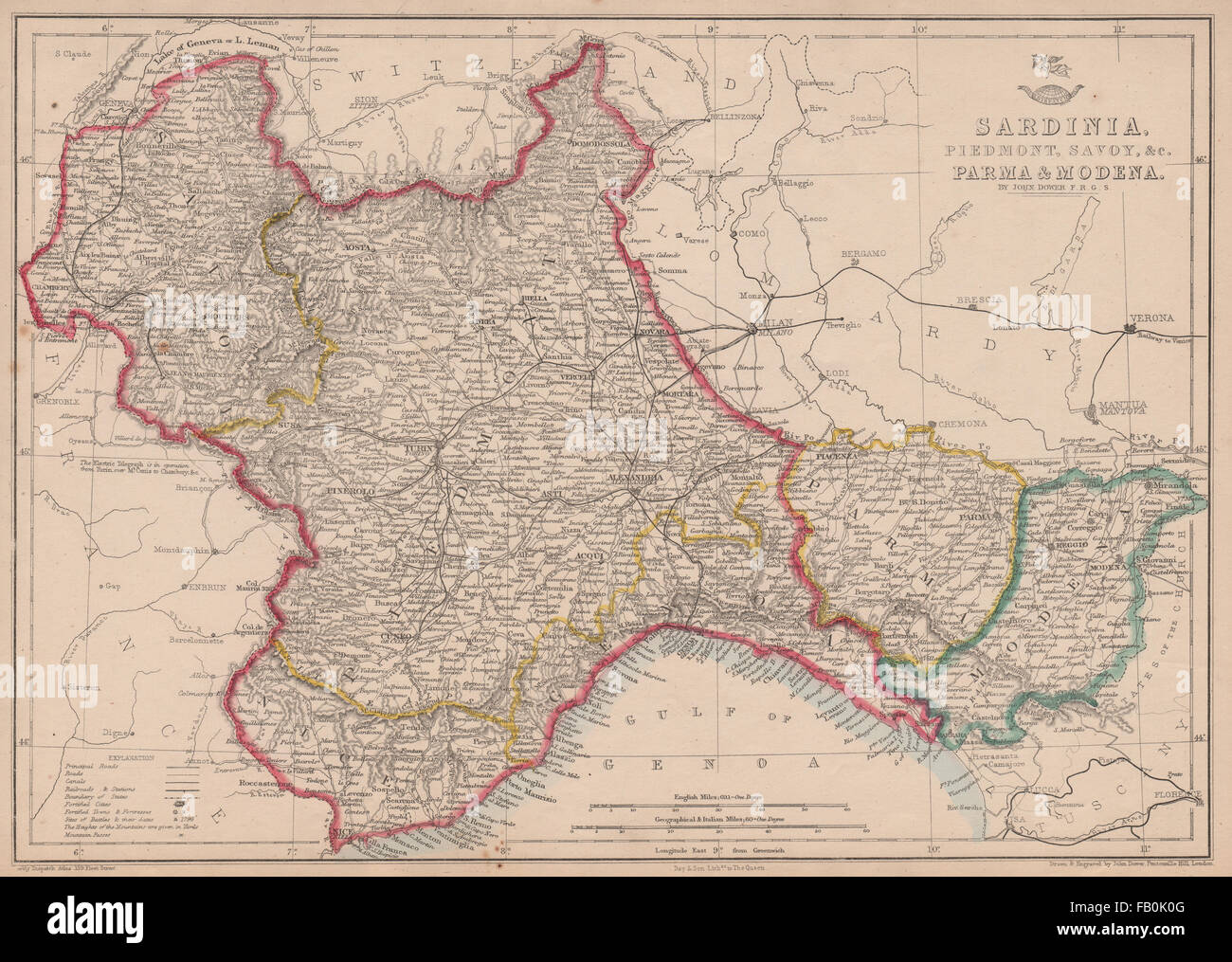 Cartina Del Regno Di Sardegna.Sardegna Piemonte Immagini Sardegna Piemonte Fotos Stock Alamy