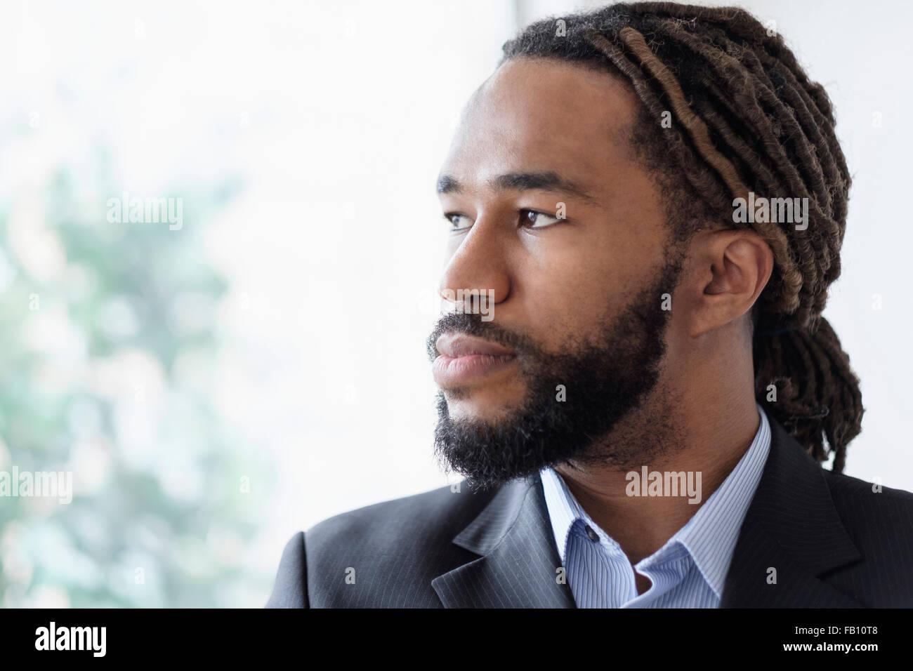 Ritratto di imprenditore tuta da indossare Immagini Stock