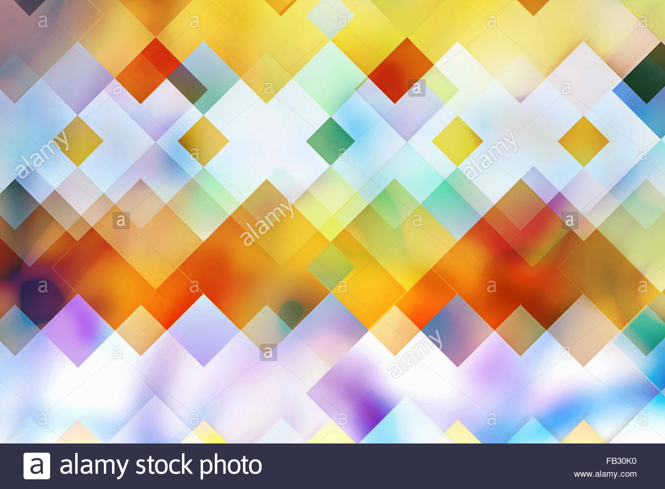 Abstract luminose sovrapposte multicolore modello geometrico Immagini Stock
