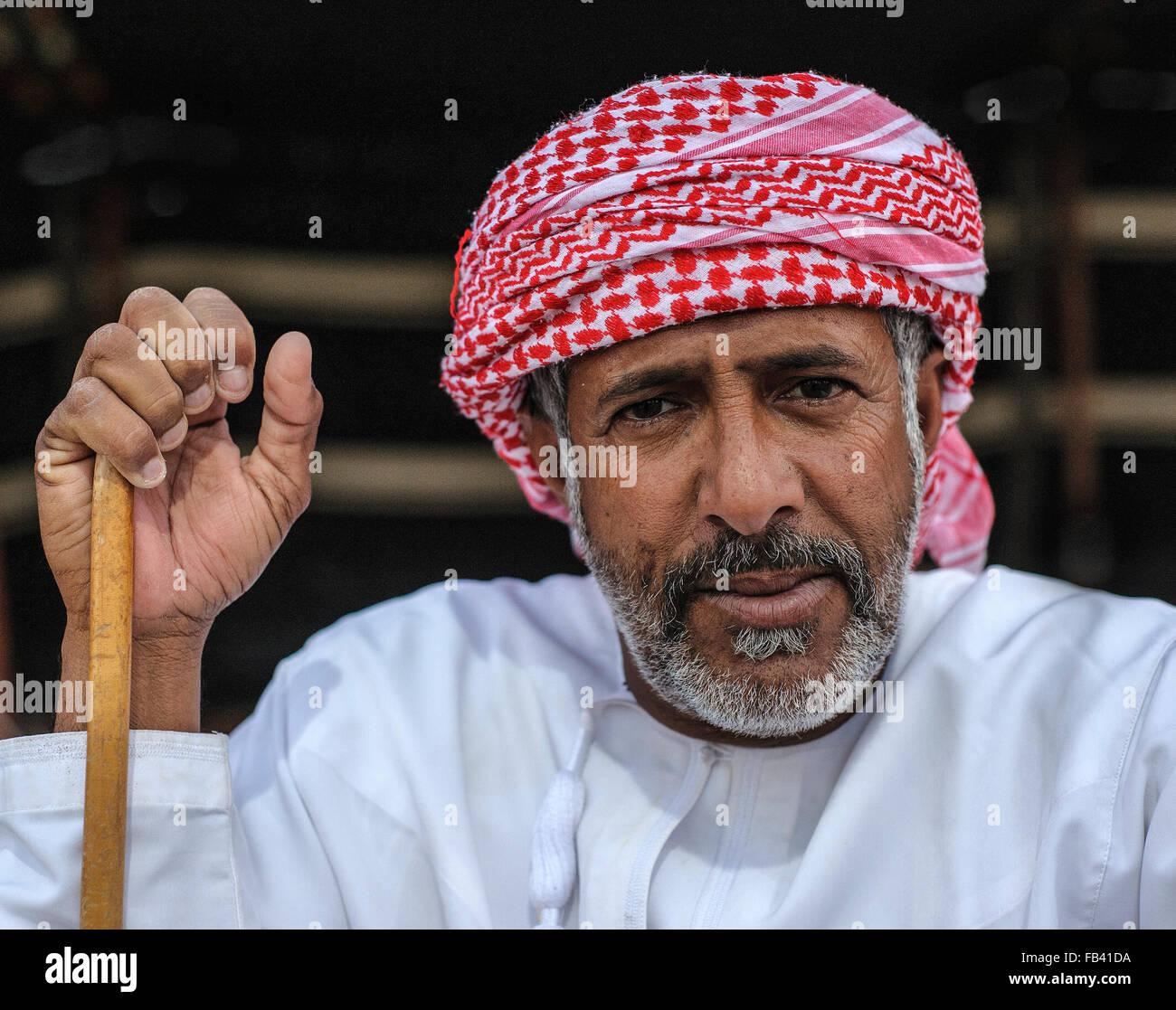 I beduini di Oman Immagini Stock