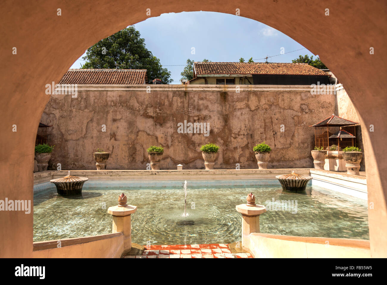 Palazzo acqua Taman Sari in Yogyakarta, Java, Indonesia, Asia Immagini Stock