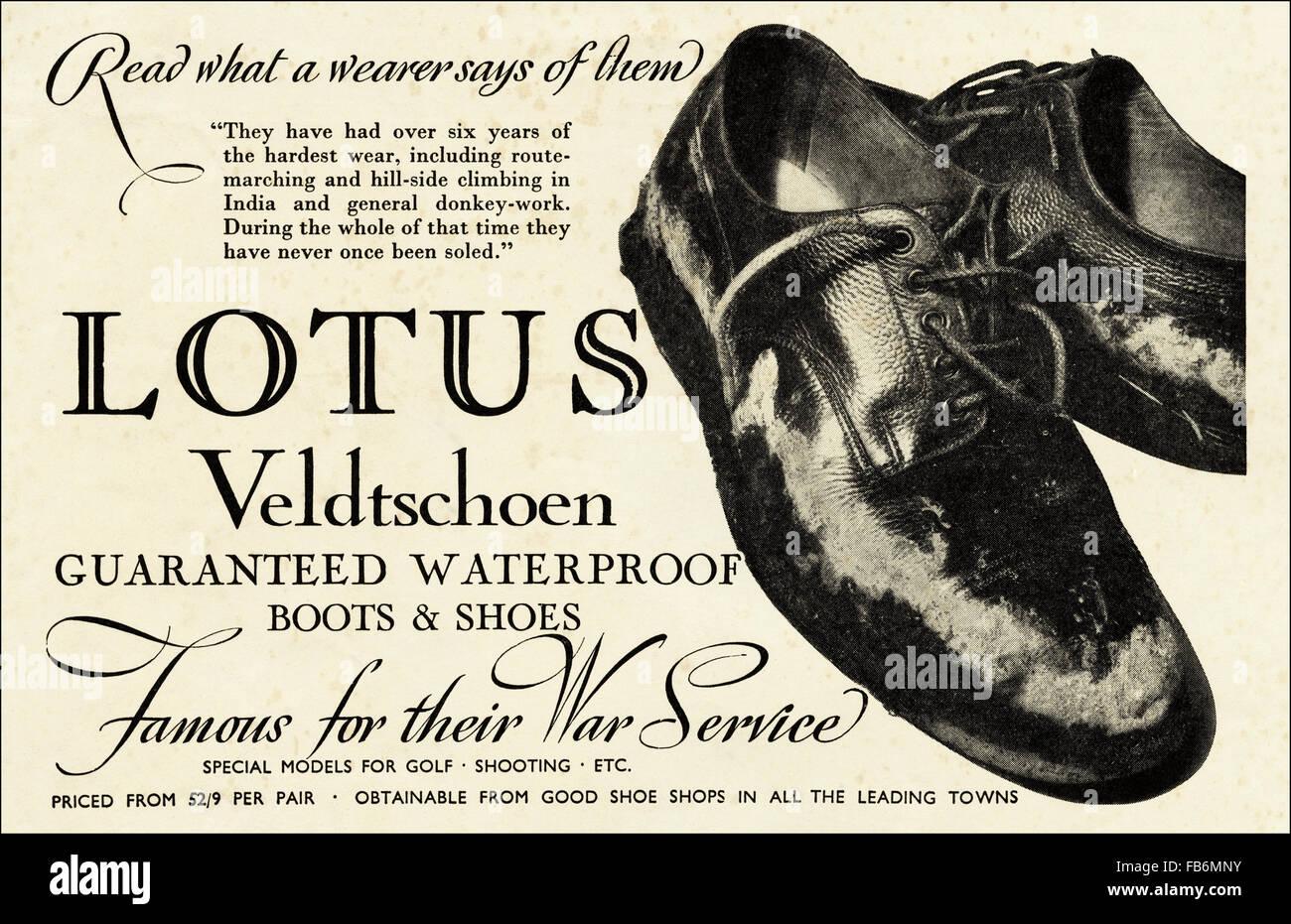 Vintage originale annuncio da 1930s. Annuncio da ottobre