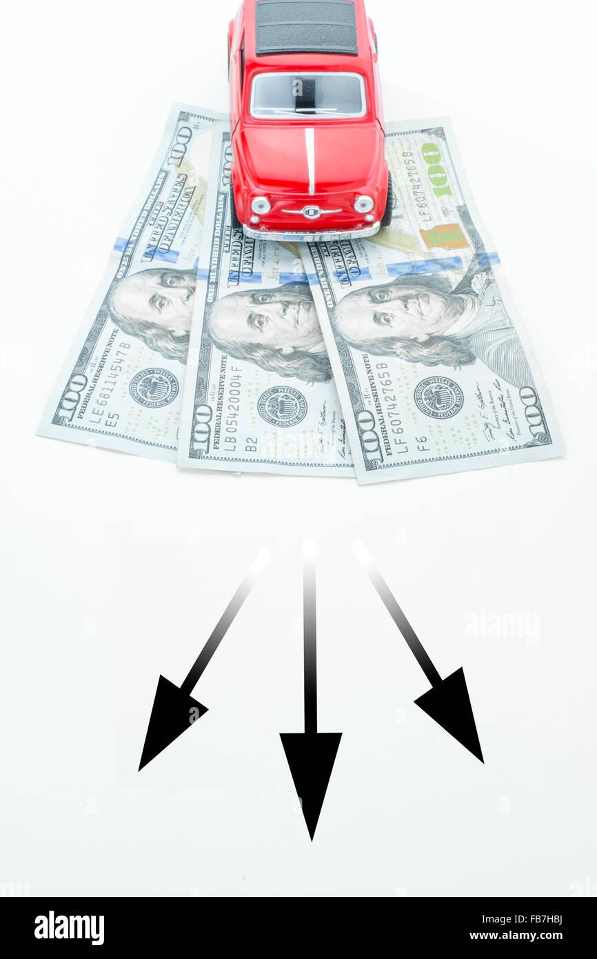 Le decisioni in materia finanziaria Foto Stock