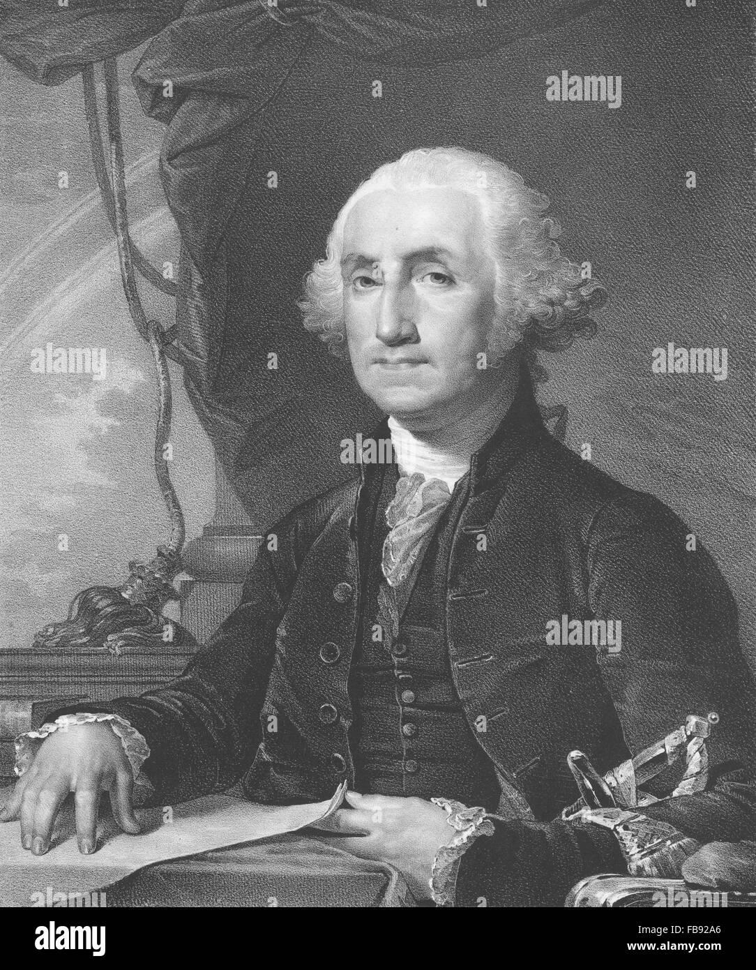 Rembrandt Peale ritratto del primo Presidente degli Stati Uniti George Washington Immagini Stock